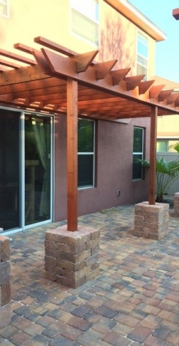 attached pergola in Florida